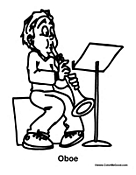 Boy Playing Oboe
